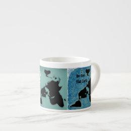 Flat Earth New Map Mug