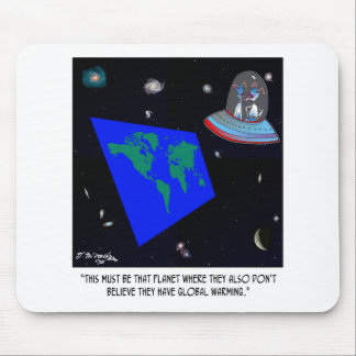 Flat Earth & No Global Warming Mouse Pad