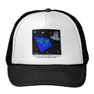 Flat Earth & No Global Warming Trucker Hat