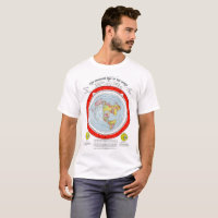 Flat Earth Standard Map of the World T Shirt
