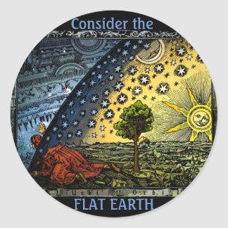 Flat Earth Sticker