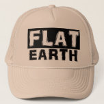 """Flat Earth Trucker Cap<br><div class=""""desc"""">Designed by The Original Flat Earth Sticky Tape man!! this is a collectors piece. With the YouTube channels errupting with Flat Earth content,  Mr Flat Taxi/ Flat Earth Addict has brought his design into his first wearable product.</div>"""