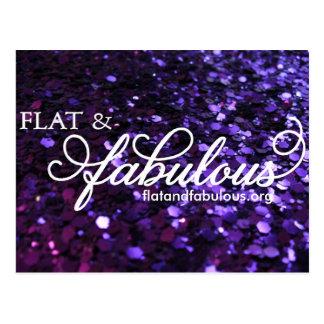 Flat & Fabulous post card