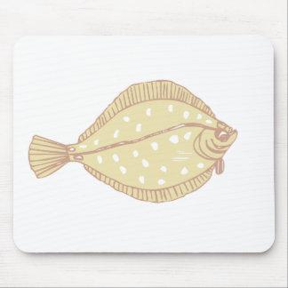 flat fish mouse pad