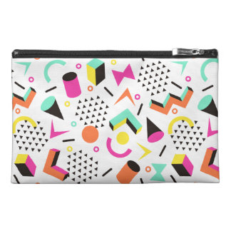 Flat Geometric Squiggly Memphis bold pattern 1980s Travel Accessory Bag