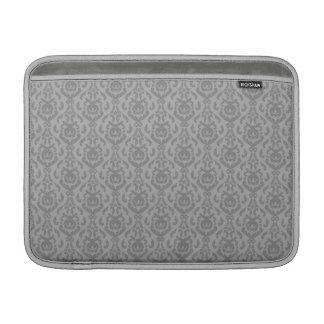 Flat Grey Damask Pattern Sleeve For MacBook Air