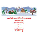 Flat Holiday Party Invitation-Custom Printed postcard