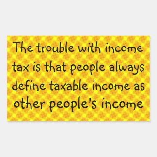 Flat income tax ... rectangular sticker