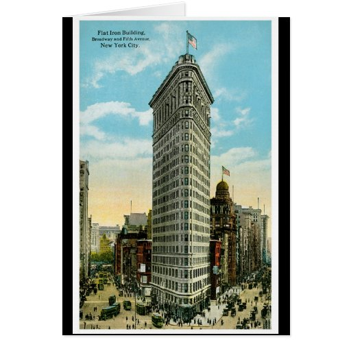 Flat Iron Building. Broadway and Fifth Ave. NYC Greeting Card