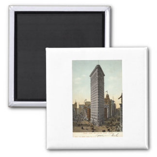 Flat Iron Building New York City 1918 Vintage Refrigerator Magnet