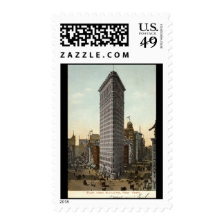 Flat Iron Building, New York City 1918 Vintage Stamps