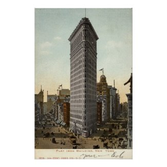 Flat Iron Building, New York City 1918 Vintage print
