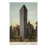 Flat Iron Building, New York City 1918 Vintage Poster