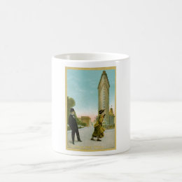 Flat Iron Building, New York Vintage Humor Card Coffee Mug