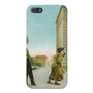 Flat Iron Building, New York Vintage Humor Card iPhone 5 Case