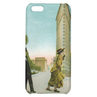 Flat Iron Building, New York Vintage Humor Card iPhone 5C Cases