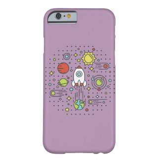 Flat Line Art - Space Barely There iPhone 6 Case