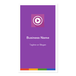Flat Metro Style Design - Minimal and Clean Double-Sided Standard Business Cards (Pack Of 100)