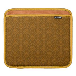 Flat Orange Damask Pattern iPad Sleeve