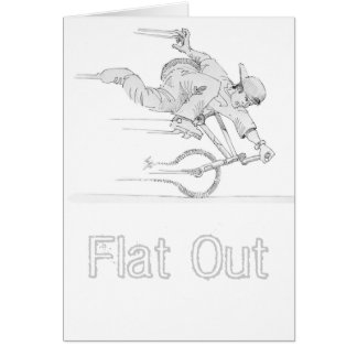 Flat Out Card