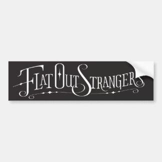 Flat Out Strangers Bumper Sticker