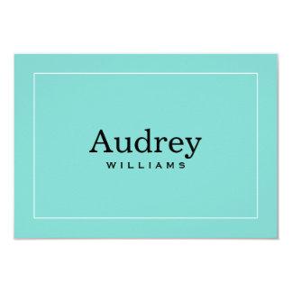Flat Personalized Note Card | Aqua Blue