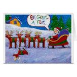 Flat Reindeer Cards