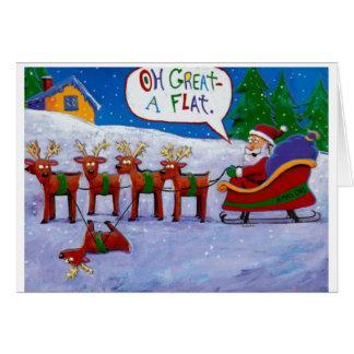 Flat Reindeer Greeting Card