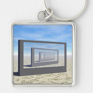 Flat Screen Desert Scene Keychain