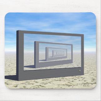 Flat Screen Desert Scene Mouse Pad