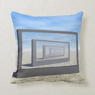 Flat Screen Desert Scene Throw Pillow