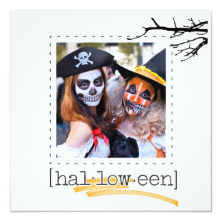 Flat square photo hallowee greeting cards