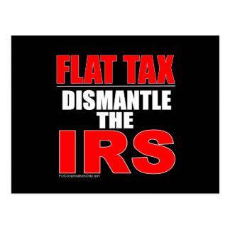 Flat Tax - Dismantle the IRS Postcard