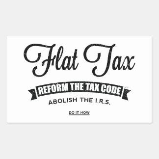 Flat Tax Rectangular Sticker