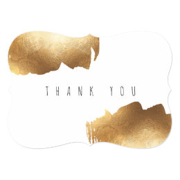 FLAT THANK YOU CARD | Gold Brush Minimalist