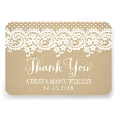 Flat Thank You Card | Kraft Brown