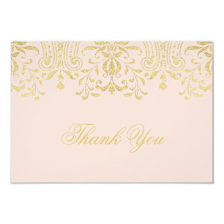 Flat Thank You Note Card | Gold Vintage Glamour