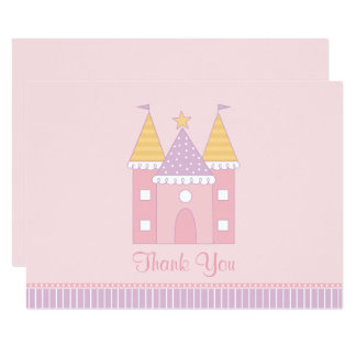 Flat Thank You Note Card | Princess Castle