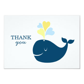 Flat Thank You Notes | Nautical Preppy Whales Card Custom Announcements