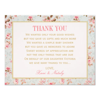 Flat Thank You Notes    Vintage Garden Party 4.25x5.5 Paper Invitation Card