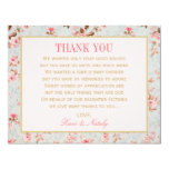 Flat Thank You Notes  | Vintage Garden Party 4.25x5.5 Paper Invitation Card