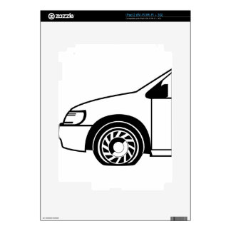 Flat tire black n white vector skins for the iPad 2