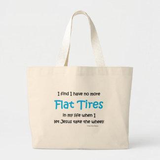 flat tires tote bags