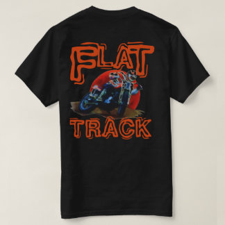 FLAT TRACK MOTORCYCLE RACER WHITE T-Shirt