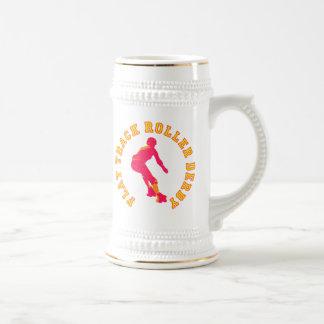 Flat Track Roller Derby Beer Stein