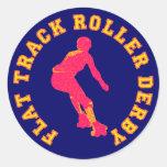 Flat Track Roller Derby Classic Round Sticker