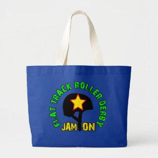 Flat Track Roller Derby, Jam On Tote Bag