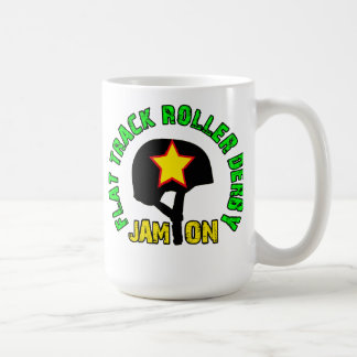 Flat Track Roller Derby, Jam On Classic White Coffee Mug