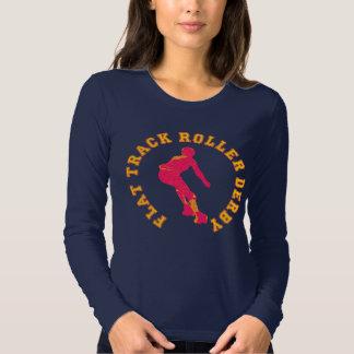 Flat Track Roller Derby T Shirt