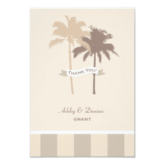 Flat Wedding Thank You Note Card | Palm Trees